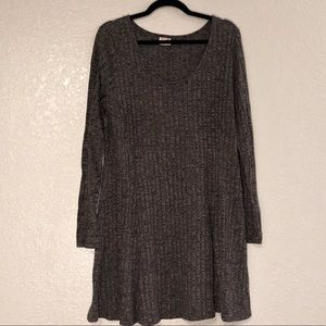 Scoop-Neck Sweater Dress